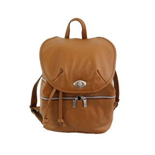 Piel Leather Double-compartment Leather Backpack