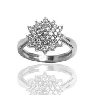Sonia Bitton 14K White Gold 3/4 Carat Diamond Starburst Ring