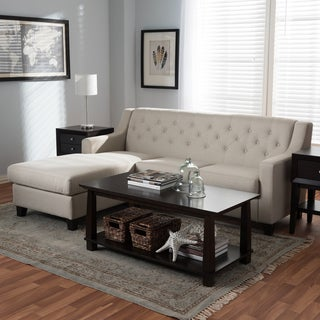 Contemporary Fabric 2-Piece Sectional Sofa
