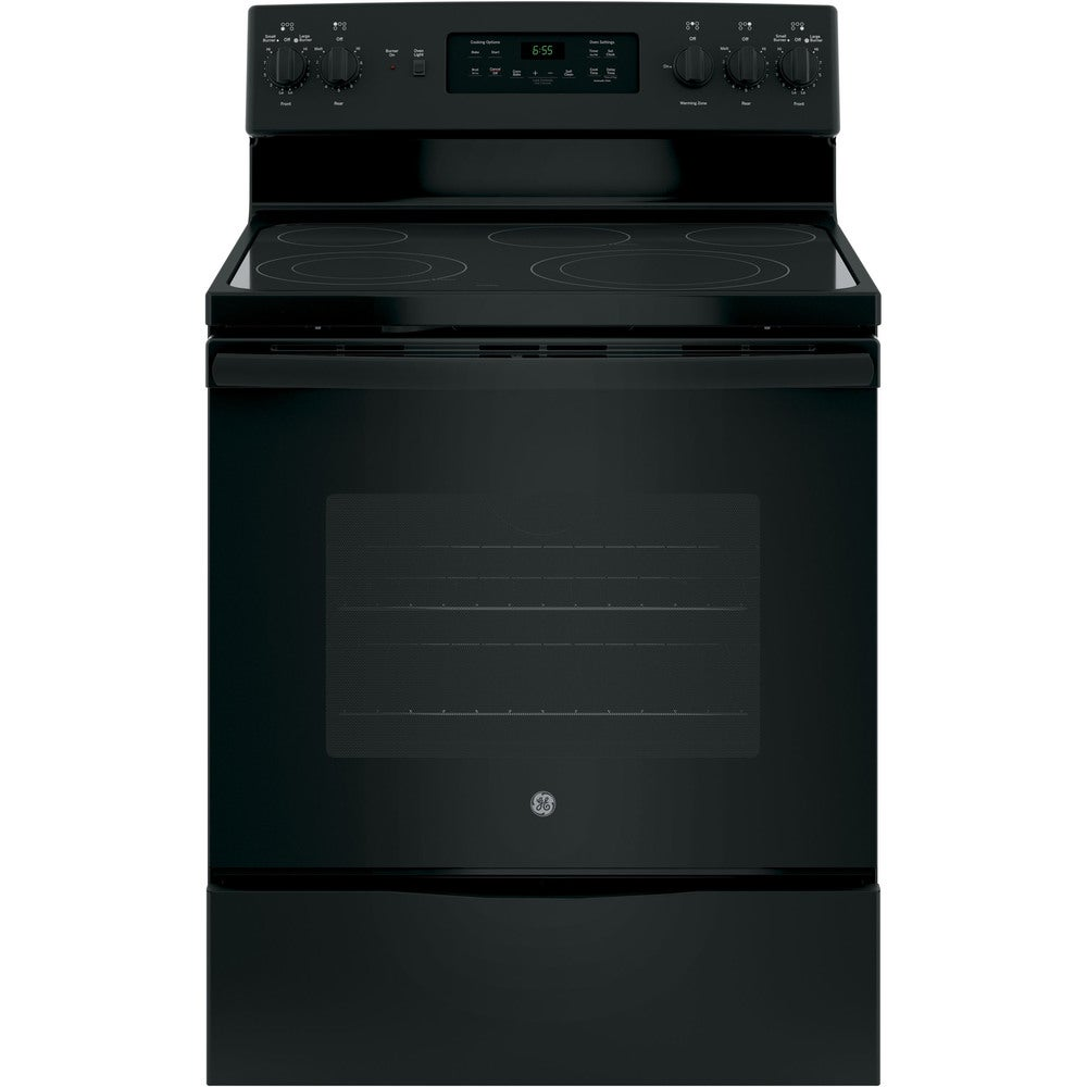 GE  30 IN Free Standing Electric Convection Ran in Black (Black)