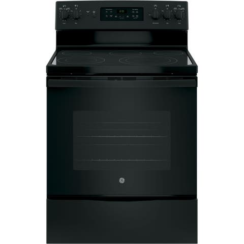 GE 30 IN Free Standing Electric Convection Range in Black