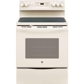 GE Bisque 30-inch Free-Standing Electric Convection Range