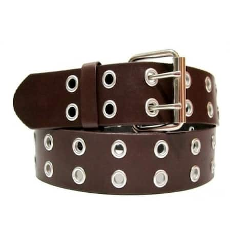 EMP Unisex Bonded-leather Grommet 2-holes Belt