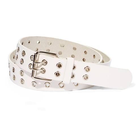 EMP Unisex Bonded-leather Grommet 2-holes Belt