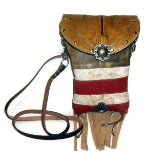 Cowboy Boot Red and Off-white Cross-Body Hipster Bag