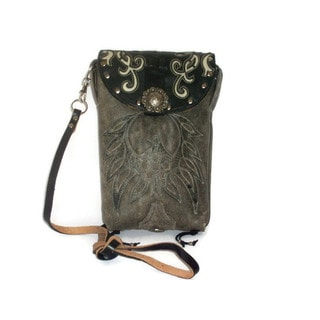 Cowboy Boot Off-white Cross-Body Hipster Bag