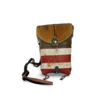 Cowboy Boot Red White and Blue Cross-Body Hipster Bag