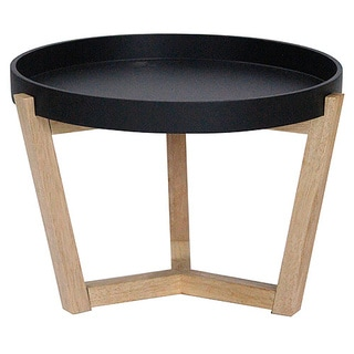 Mid-cenutry Euro Round Tri-leg Accent Tray Table