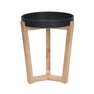 Mid-cenutry Euro Round Tall Accent Tray Table