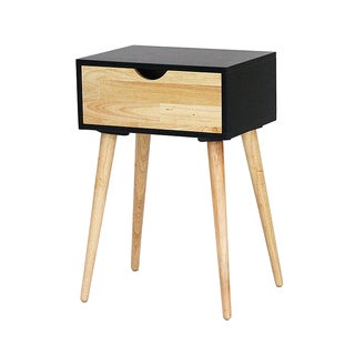 Mid-century Euro 1-drawer Accent Table