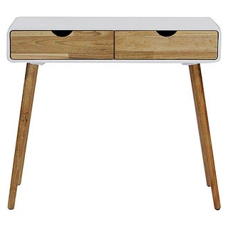 Mid-century Euro 2-drawer Console and Writing Desk