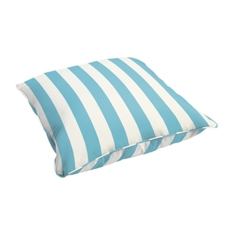 Sloane Aqua Stripe Indoor/ Outdoor Corded 26 Inch Floor Pillow