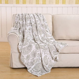 Paisley Beige Throw