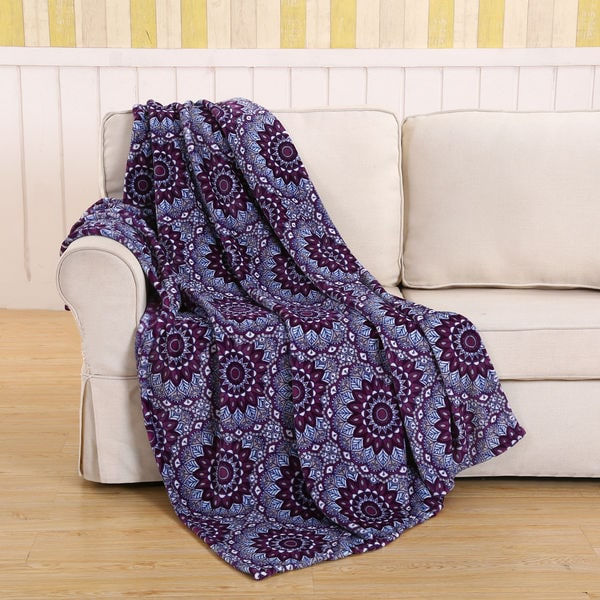 Purple Star Throw