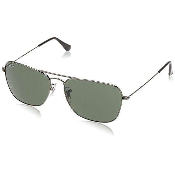 2c7357e5936 ... get ray ban rb3136 004 caravan gunmetal frame green classic 58mm lens  sunglasses b444f b6161