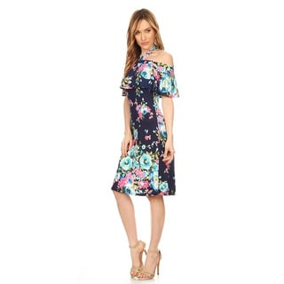 Women's Floral Halter Dress