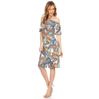 Women's Floral Tapestry Halter Dress