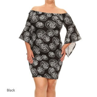 Women's Plus Size Abstract Short Dress