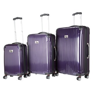 Chariot Paola 3-piece Hardside Expandable Lightweight Spinner Luggage Set