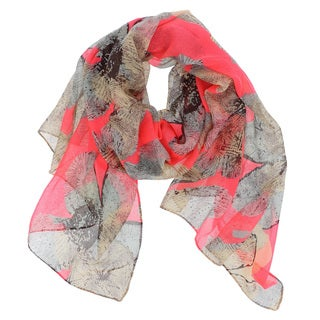 LA77 Women's Floral-patterned Scarf