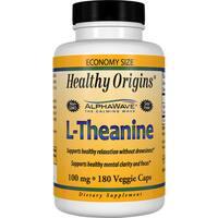 Healthy Origins L-Theanine 100 mg (180 Veggie Capsules)