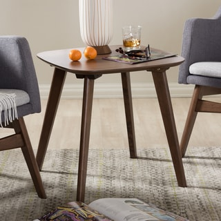 Baxton Studio Mid-Century Walnut Finish Brown Wood End Table
