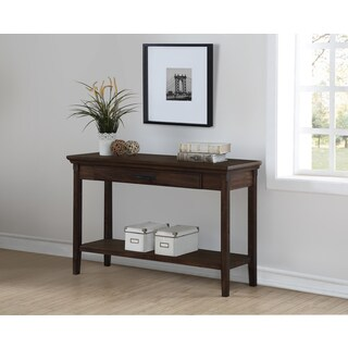 Traditional Rockwell Brown Distressed finish Entryway Console Table