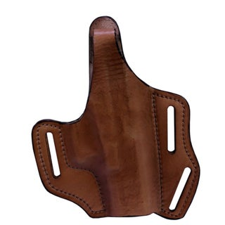 Frontline Multi Purpose Pancake Leather Holster Glock 19/23/32, Brown, Right Hand