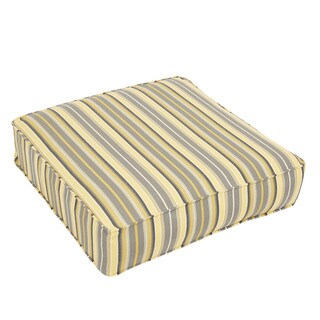 Sawyer Sunbrella Foster Metallic Indoor/ Outdoor Corded 22.5 inch Square Cushion