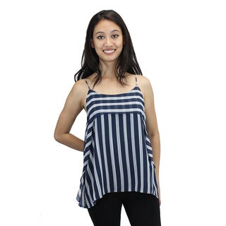 Relished Women's Nautical Striped Chiffon Top