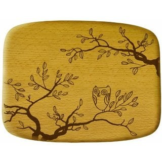 Talisman Designs Get Real Nature Beechwood Cheese Board, Nature Design