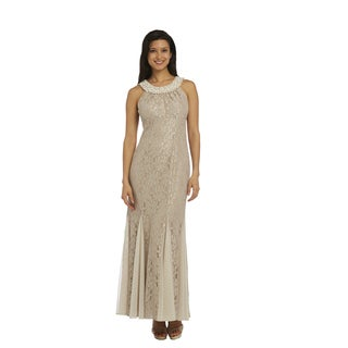 R&M Richards Beige Lace Dress