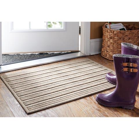 """Mohawk Impressions Ribbed Doormat (1'6 x 2'6) - 1'6"""" x 2'6"""""""