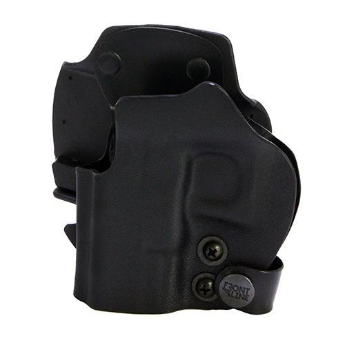 Frontline Open Top Kydex Holster Glock 26/27/28, Black, Right Hand