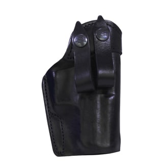 "Frontline Inner Waistbane Leather Holster with Belt Loops H&K P2000 Up to 5"" Barrel, Black, Right Hand"