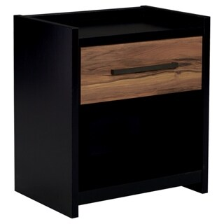 Signature Design by Ashley Stavani Black One Drawer Night Stand