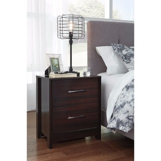 Signature Design by Ashley Agella Merlot Two Drawer Night Stand