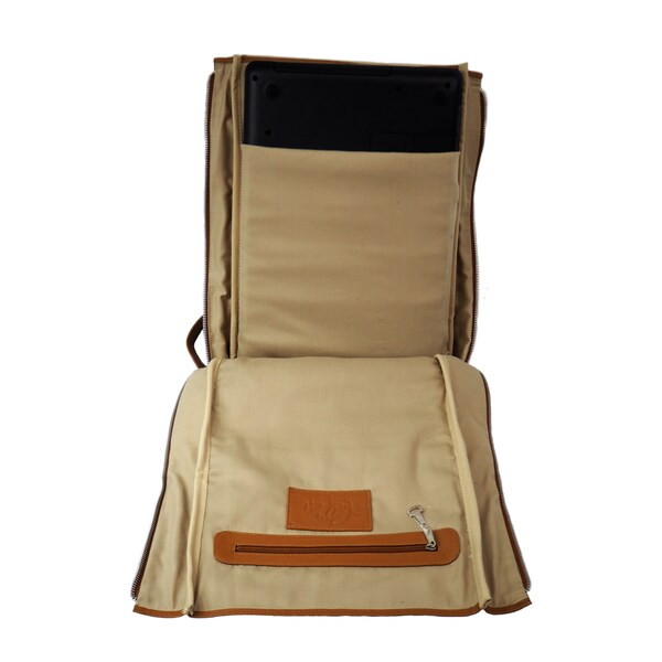 Chocolate One Size Piel Leather Carry-All Vertical Shoe Bag