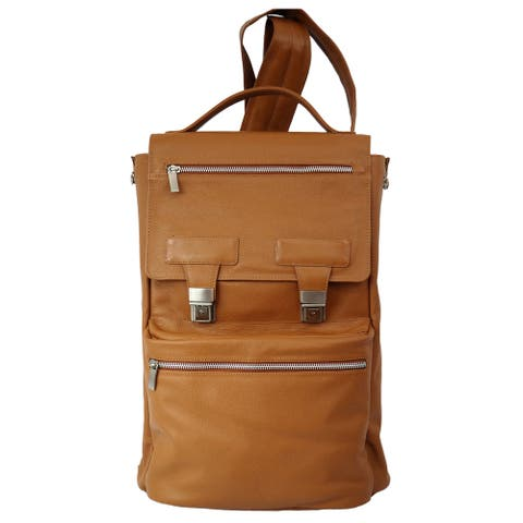 Piel Leather Vertical 15-inch Laptop Backpack