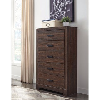 Signature Design by Ashley Arkaline Brown Five Drawer Chest