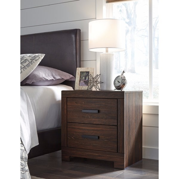 Signature Design By Ashley Arkaline Brown Two Drawer Night