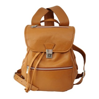 Piel Leather Solid-colored Leather Drawstring Fashion Backpack