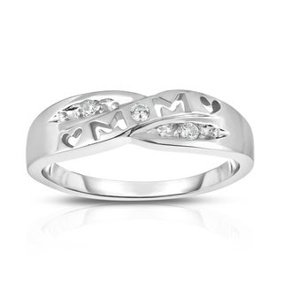 Noray Designs 14k Gold Diamond Accent 'Mom' Heart Ring