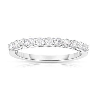 Noray Designs 14k White Gold 2/5ct TDW White Diamond 11-Stone Wedding Band (G-H, I1-I2)