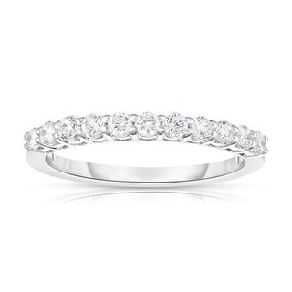 Noray Designs 14k White Gold 2/5ct TDW White Diamond 11-Stone Wedding Band