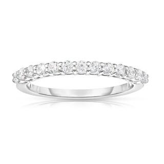 Noray Designs 14k White Gold 3/8ct TDW White Diamond 13-Stone Wedding Band (G-H, I1-I2)