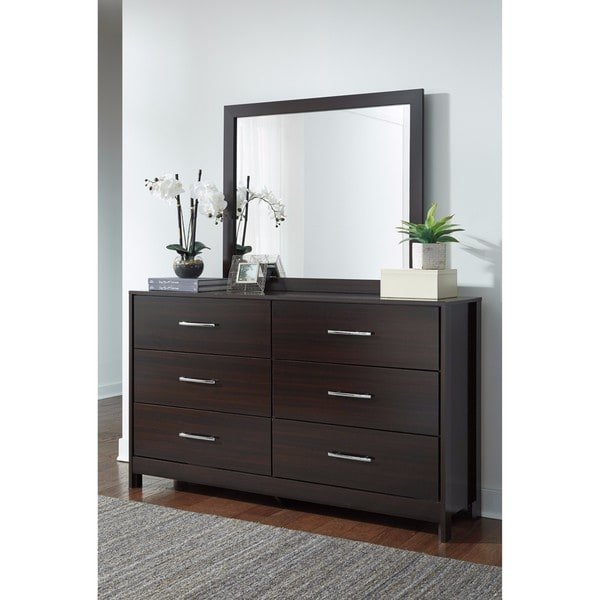 Signature Design by Ashley Agella Merlot Bedroom Mirror