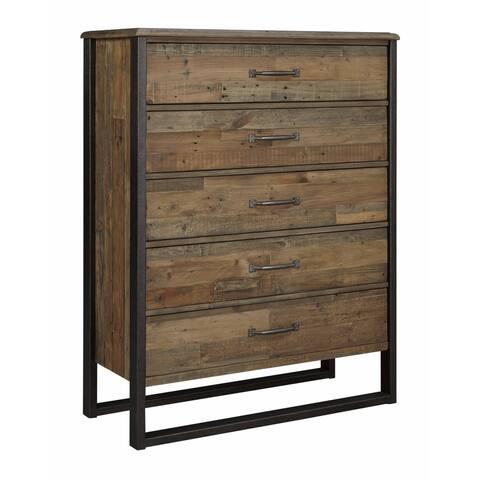 Dawlyn Burnished Brown Dresser and Mirror