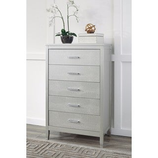 Signature Design by Ashley Olivet Silver Five Drawer Chest
