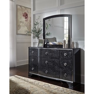 Signature Design by Ashley Amrothi Black Bedroom Mirror